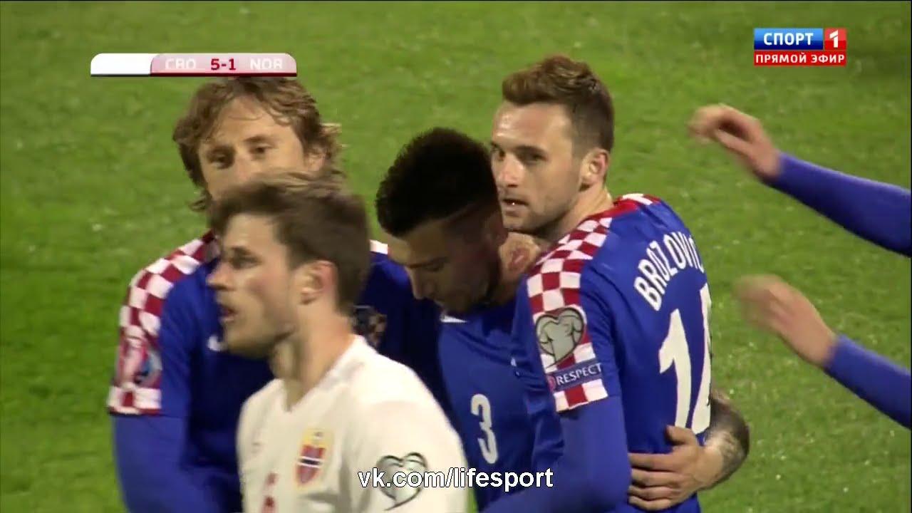 كرواتيا والنرويج 5-1
