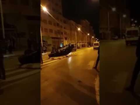 حادثة سير خطيرة بشارع الدار البيضاء بتطوان
