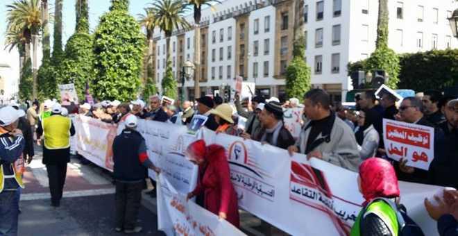 مناهضو إصلاح التقاعد يحتجون أمام البرلمان وينتقدون خطة بنكيران