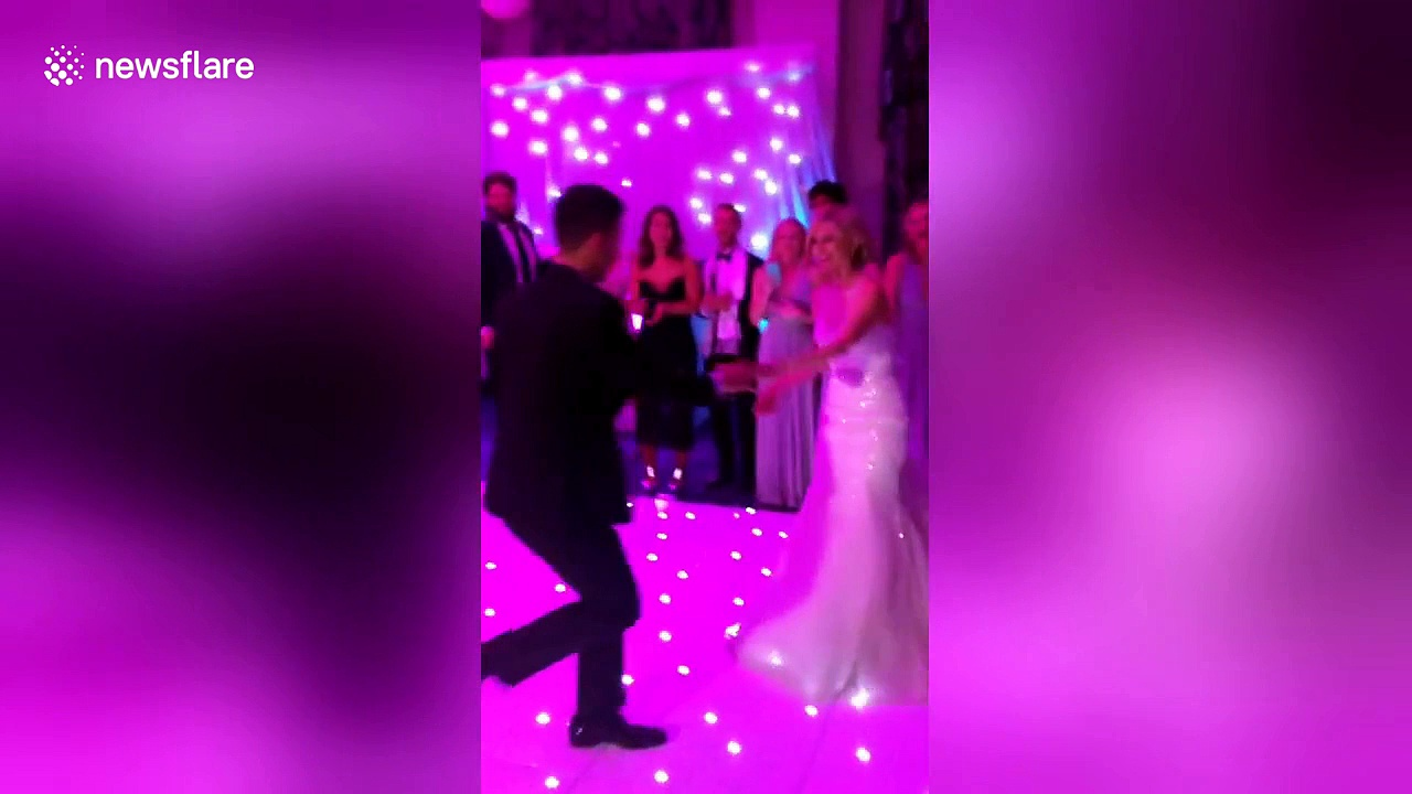 بالفيديو.. عريس يتعرض لموقف محرج في ليلة زفافه!
